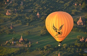 Golden Eagle balloons