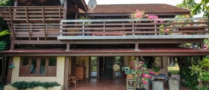 Entrance to The Ban Tak House, a private house located on the banks of the River Ping, Tak Provence, Thailand